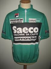 Tirreno Adriatico SAECO Mountain jersey PETITO cycling shirt maillot size 54, XL