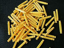 "75 Micro K'Nex Yellow 1"" (25 mm) Rods replacement 1 inch mini parts / pieces"