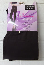 Womens Ladies New Winter Fleece THERMAL ZIP Stretchy Thick Full Length Legging