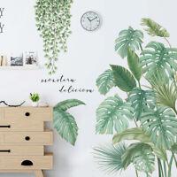 Nordisch Grün Blätter Gras Wandaufkleber Schlafzimmer Wohnzimmer Art Decals DIY