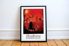 Bloodborne Game Art, video game poster, gaming print, computer game art