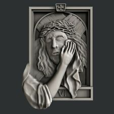 3d STL models for CNC, Artcam, Aspire, Religion Jesus