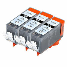3 PK INK NON-OEM CANON PGI-220BK BLACK IP3600 IP4600 IP4700 MP980 MX860 MP990