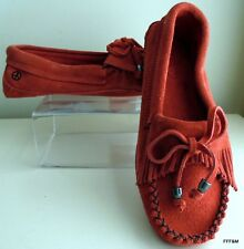 Peace Mocs by Old Friend Mocassins Women's Megan Poppy Suede Size - 9.5 US 40 EU