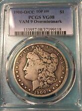 1900 O/CC Vam 9 PCGS VG 8 LOWBALL Morgan Silver Dollar Top 100 VAM RARE R7