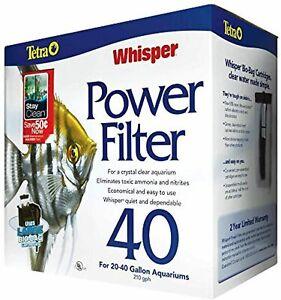 Tetra Whisper Power Filter 40 Gallons, Quiet 3-Stage Aquarium Filtration