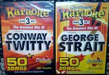 6 CDG KARAOKE DISCS GEORGE STRAIT & CONWAY TWITTY CHARTBUSTER COUNTRY 100 SONGS