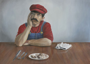 "Original Oil Painting - ""Princess Peach"" - (Oil, 30x40) - Art by Cedric Chambers"