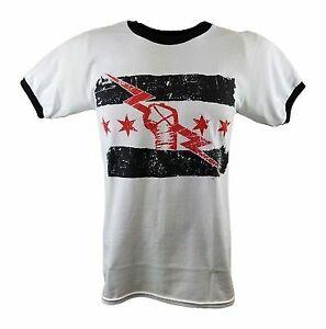 CM PUNK Best In The World Mens White Ringer T-shirt