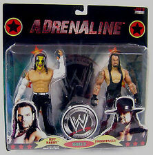 "WWE_JEFF HARDY and UNDERTAKER 6 "" action figures_ADRENALINE Series 37_2 Pack_MIP"