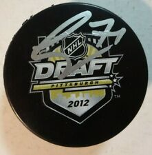Autographed CHRIS TIERNEY Signed 2012 NHL Draft Hockey Puck Ottawa Senators