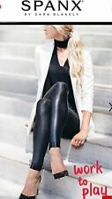 New SPANX Black Faux Leather Leggings; X-Large; Style 2437; A SPANX Best Seller!