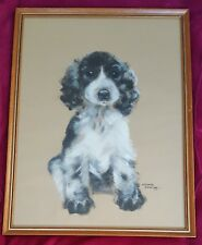 Pollyanna Pickering b1942 Springer Spaniel Original signed canvas oil painting