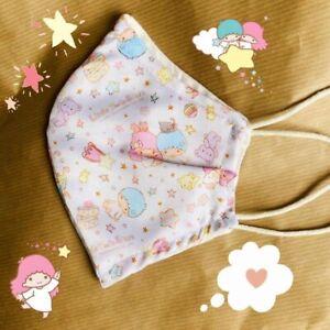 Handmade Sanrio Little Twin Stars Cotton Face Mask
