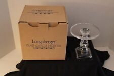 Longaberger Glass Candle Pedestal - Clear