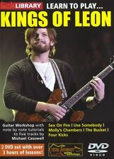 LICK LIBRARY Learn to Play KINGS OF LEON Sex on Fire Rock POP Tutor Guitar DVD