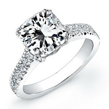 3.11 Ct GIA Radiant Cut H, Internally Flawless Center Diamond Engagement Ring