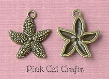 50 x Tibetan Bronze Tone STARFISH SEA STAR Charms Pendants Beads  *** SALE ***