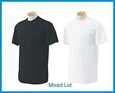 T-SHIRTS  Blank 50 Black 50 White BULK LOT S-XL Wholesale Gildan 5000