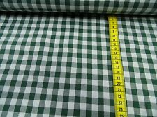 VICHY Cuadriculado tela de algodón hierba verde/blanco aprox. 140cm de ancho