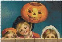Vintage Trick-Or-Treat Kids DIGITAL Counted Cross-Stitch Pattern Needlepoint