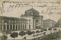 1408: Ansichtskarte Postkarte Mannheim Bahnhof gelaufen 1906