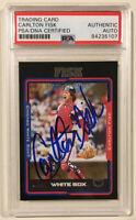 2005 Topps CARLTON FISK Signed Autographed Baseball Card PSA/DNA JSA 45/54 #8