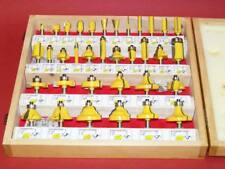 "35 pc 1/4"" Shank Router Bit set Carbide tipped Woodworking tool kit Aj"