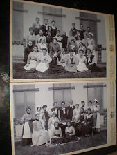2 Cdv cabinet photograph group nurses by Boesche Magdeburg Gommern Germany 1900s