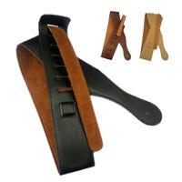 Vintage Leather Strap Adjustable Shoulder Belt for Electric Acoustic Guitar Bass