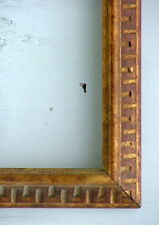 """FRAME AMERICAN CARVED MID CENTURY MODERN GEOMETRIC SOLID WOOD FITS 29"""" x 23"""""""