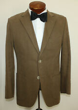 Pedro Del Hierro Moleskin Cotton Patch Pocket Blazer Brown Slim US Sz 38 R