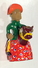 COLLECTIBLE HANDCRAFTED BRAZILIAN WHIMSICAL CLAY FIGURINES OF GAUCHO AND HORSE