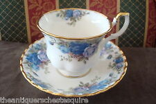 Royal Albert, England, cup and saucer, Blue Roses Pattern, [*49]