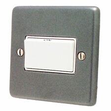 G&H CP69W Standard Plate Pewter 1 Gang Triple Pole 10A Fan Isolator Switch