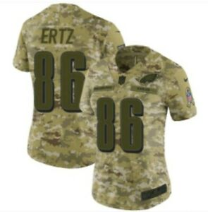 Womens Nike Eagles Zach Ertz #86 Salute to Service STS Camo NFL Jersey Sz Small