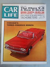 Car Life April 1962 - Corvair Monza- Olds 98 - Dodge Dart & Daytona -Duesenberg