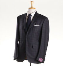 NWT $3495 SARTORIA PARTENOPEA Charcoal Gray Check Wool-Silk Suit 38 R (Eu 48)