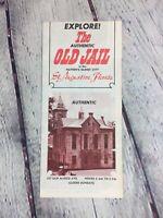 Vintage Travel Brochure The Authentic Old Jail Florida Souvenir Paper / Map