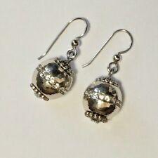 NWT Brighton GLIMMER TWIST Silver Crystal Interchangable Bead Earrings MSRP $42