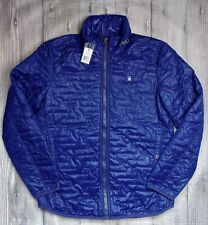 G STAR EDLA PADDED OVERSHIRT MENS JACKET BNWT GENUINE £125 LARGE L BLUE QUILTED