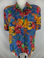 ESCADA by Margaretha Ley Vintage Seiden Bluse 40 buntes Blumenmuster 100% Seide