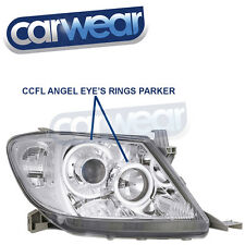 CCFL ANGEL EYES RINGS TOYOTA HILUX VIGO 05-11 CHROME PROJECTOR HEAD LIGHTS