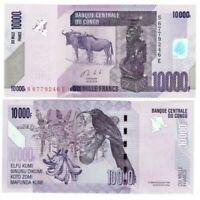 CONGO (DRC) 10000 Francs (2013) P-103 UNC Banknote Paper Money Prefix S/E