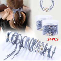 24 Pieces/Set Hair Accessories Girl Simple Cute Shape Hair Tie Girl Rope Gifts