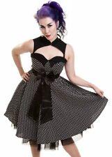 Poizen Rockabella Viva dress polko dot rockabilly prom goth RRP £44 S UK 10