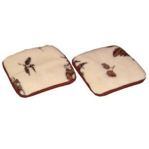 Sheepskin Sheep Wool Warmer Warming Universal Car Seat Chair Cover Pad Mat Soft