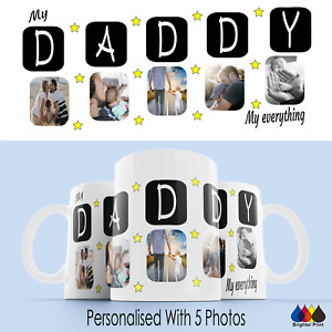 Daddy Photo Mug Cup Best Dad Personalised Gift Birthday Present Fathers Day