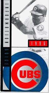 1996 Chicago Cubs Baseball Media Guide