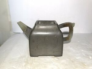 Antique Chinese Pewter encased Zisha Clay Teapot Dated by Yang Pengnian Marked